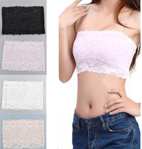 Details about Sexy Women Lady Floral Lace Stretch Strapless ...