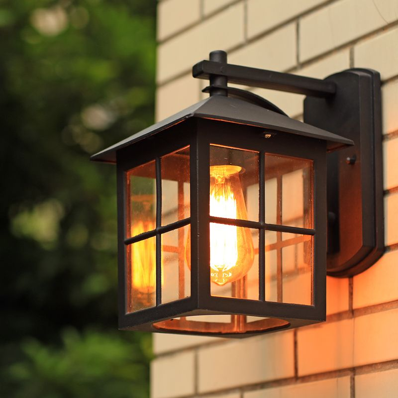 Wall Lamp American Country Style Simple Modern Waterproof Outdoor Lamps Retro Nostalgia Warehouse Wall Light Black Wall Lamps Wall Lights Wall Sconces Bedroom