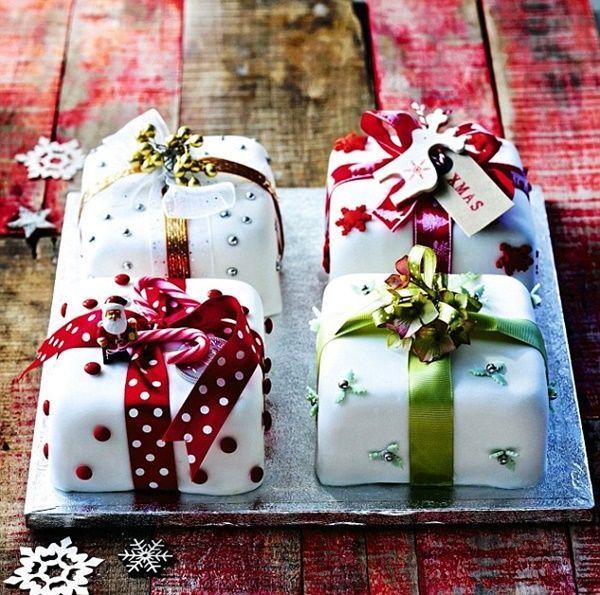 60 einfache Weihnachtskuchen Dekoration Ideen #cakedecorating