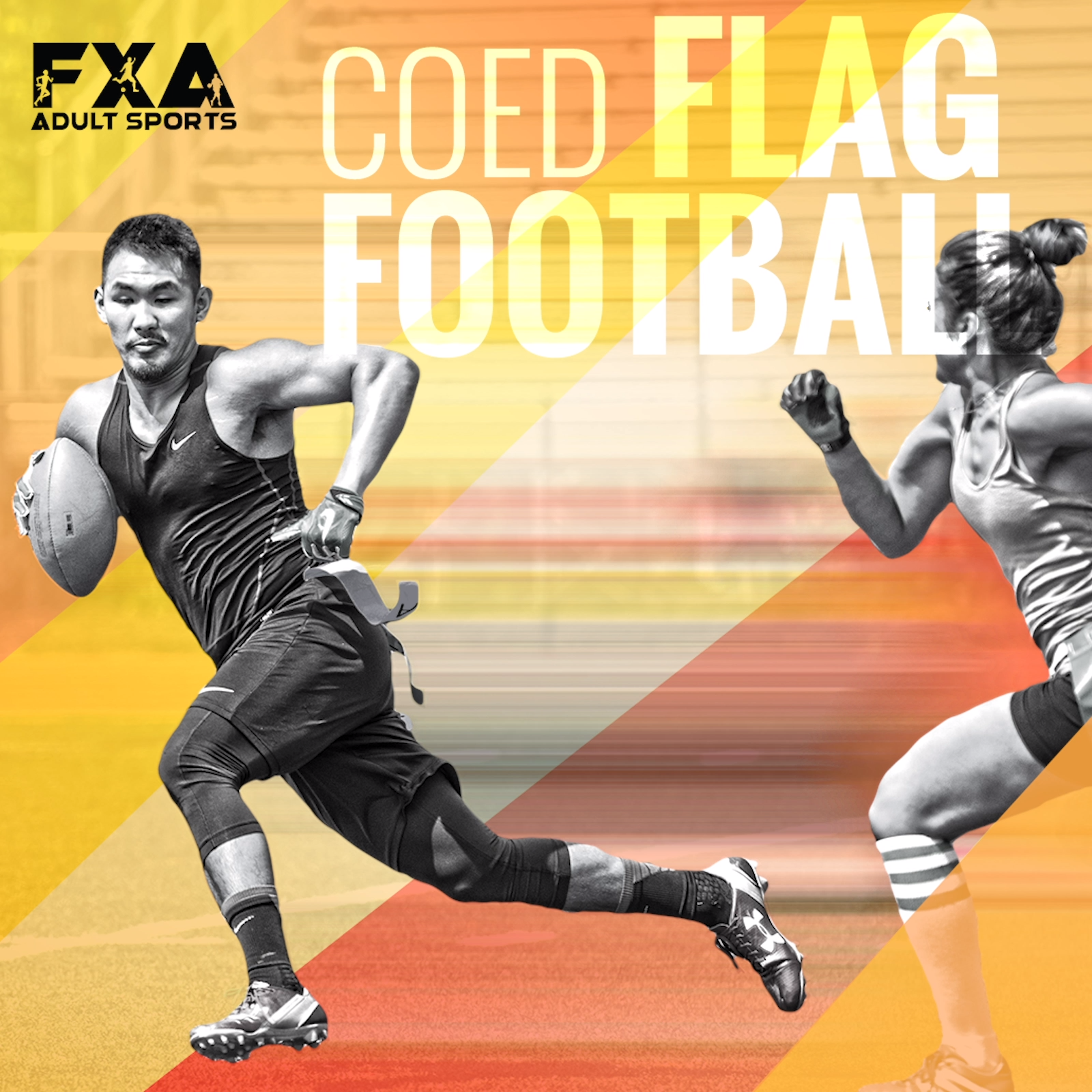 Fxa Sports Co Ed Flag Football Video Flag Football Flag Football League Football
