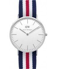 Mens Daniel Wellington Mens Classic 40mm Canterbury Silver Watch 105.15 Watches2U