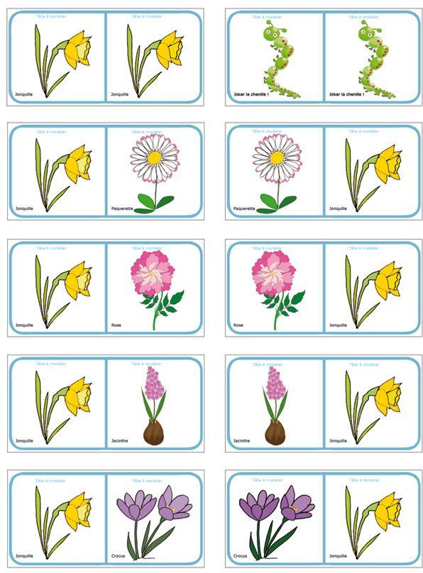 planche 12 des dominos sur les fleurs de printemps et d 39 t. Black Bedroom Furniture Sets. Home Design Ideas