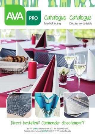AVA Cataloog 1 - Tafelbekleding / Décoration de table - 2016-04