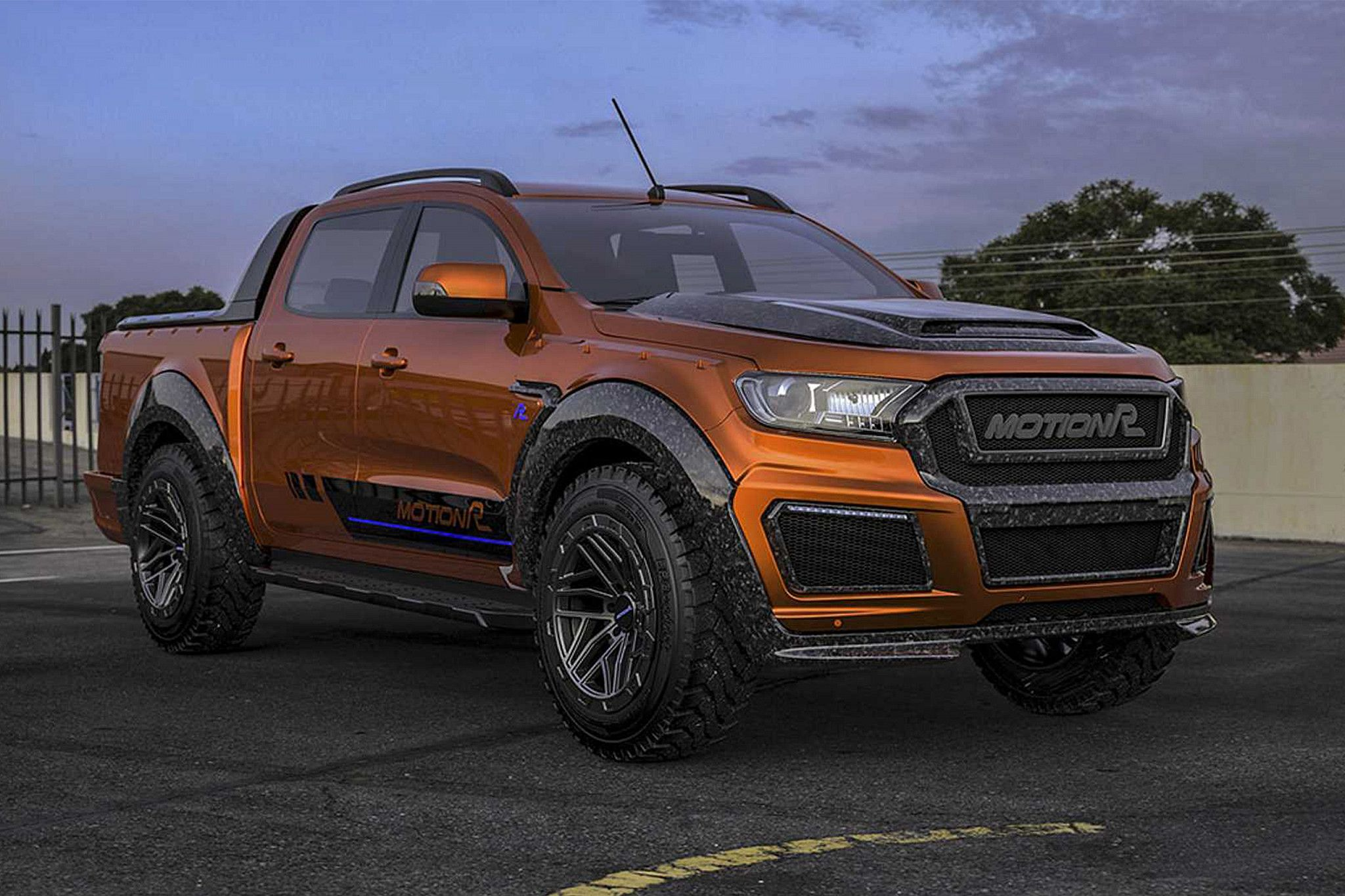Mundo Quatro Rodas Tunning This Ford Ranger Is Dressed Up In Carbon Ford Ranger Super Cars Ford