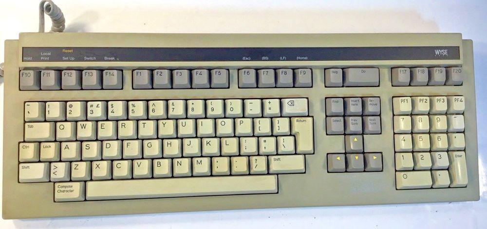Vintage Clicky Terminal Keyboard Wyse Gate Array Keyboard 840366 01 Untested Wyse Keyboard Save Your Money Computer Keyboard