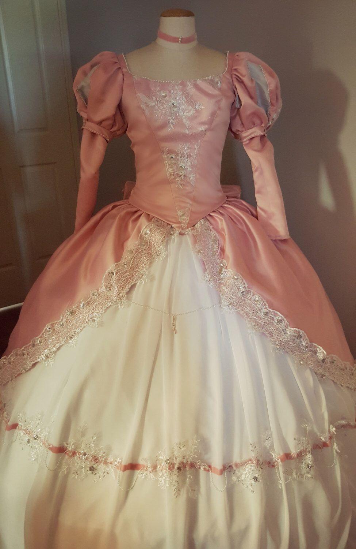 Ariel the little mermaid pink ballgown ariel pink dress