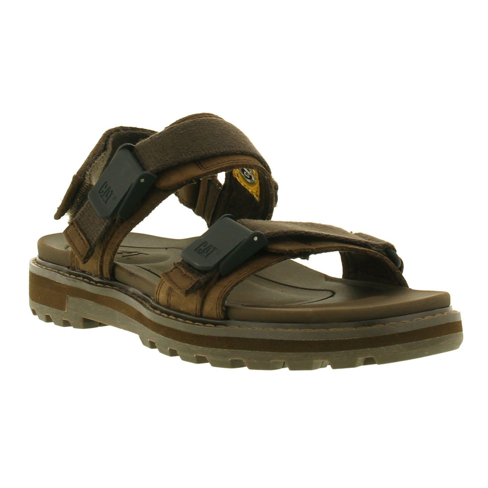 5242882e8 Caterpillar Drifter Mens Wide Fit Adjustable Leather Cat Sandals Size Uk  6-12