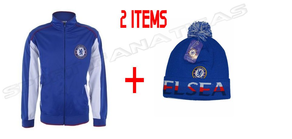 63c8d04d91c Chelsea Jacket Track Soccer + Beanie Winter Cap Hat set 2 items  Rhinox   Chelsea