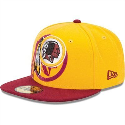 New Era Washington Redskins Over Flock 59FIFTY Structured Fitted Hat