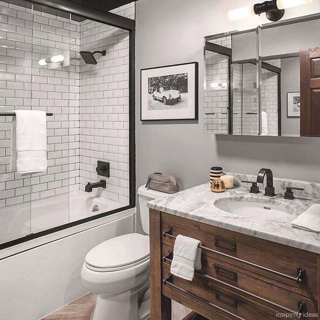Modern Farmhouse Bathroom for Small Spaces Ideas 17 ...