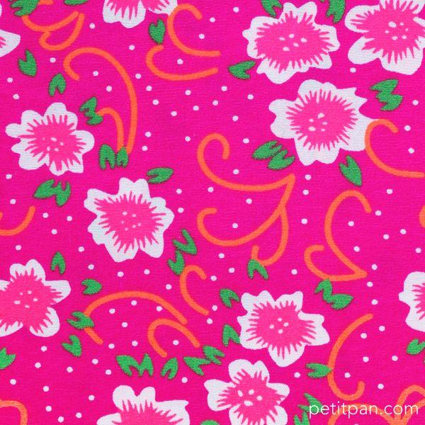 "Tissu Petit Pan ""Fiora"" rose. Collection Venise."