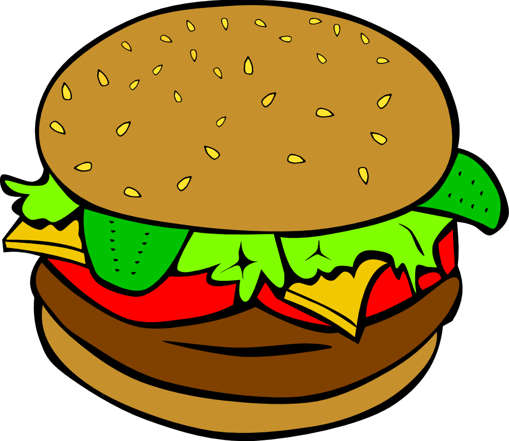 fast food lunch dinner hamburger tons of free clip art downloads rh pinterest com food clipart black and white food clipart images free