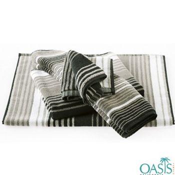 Bath Towels In Bulk Beauteous White Mushroom Black Stripe Designer Bath Towel  Bath Towels Design Ideas