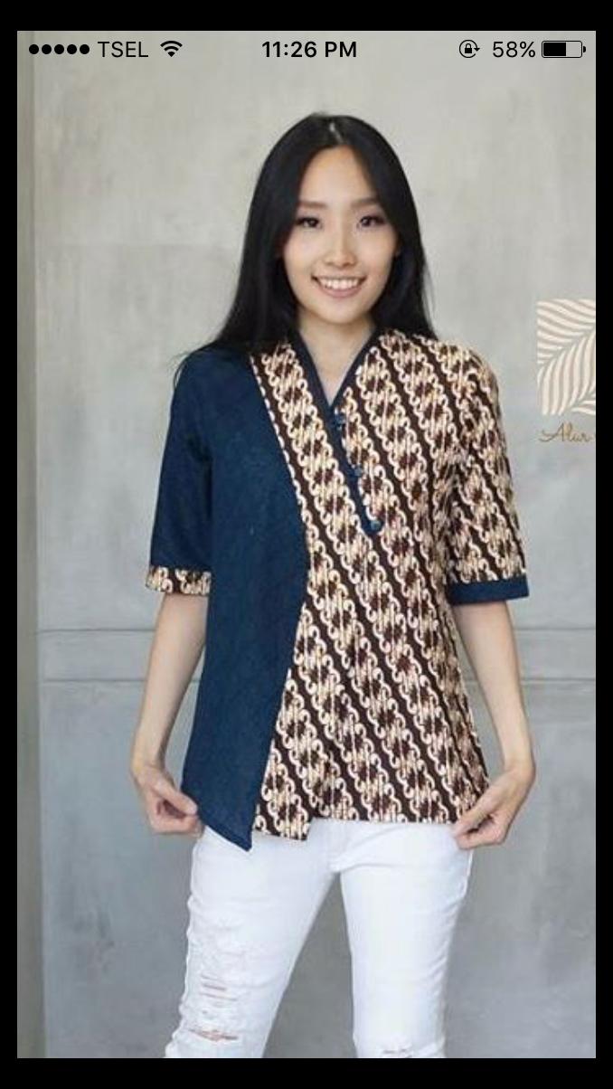 pola blouse batik