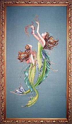 """Mermaids of the Deeper Blue"" - counted cross stitch - Mirabilia"