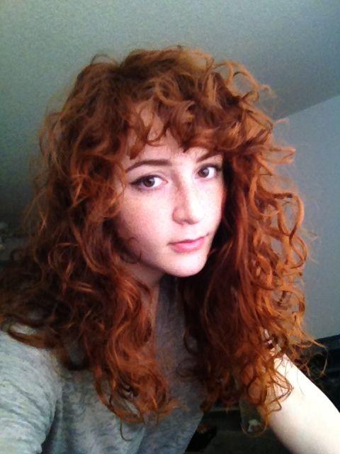 Curly Bangs On Pinterest