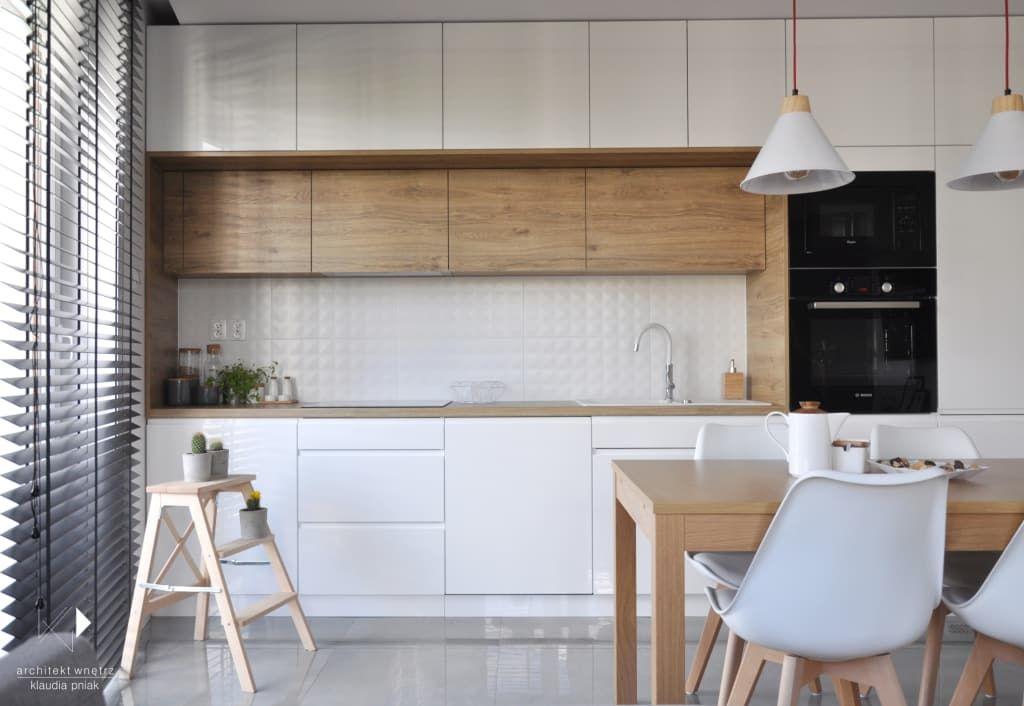 Realizacja Mieszkanie 50m2 Krakow Architekt Wnetrz Klaudia Pniak Nowoczesna Kuchnia Homify Modern Kitchen Kitchen Interior Kitchen Room Design