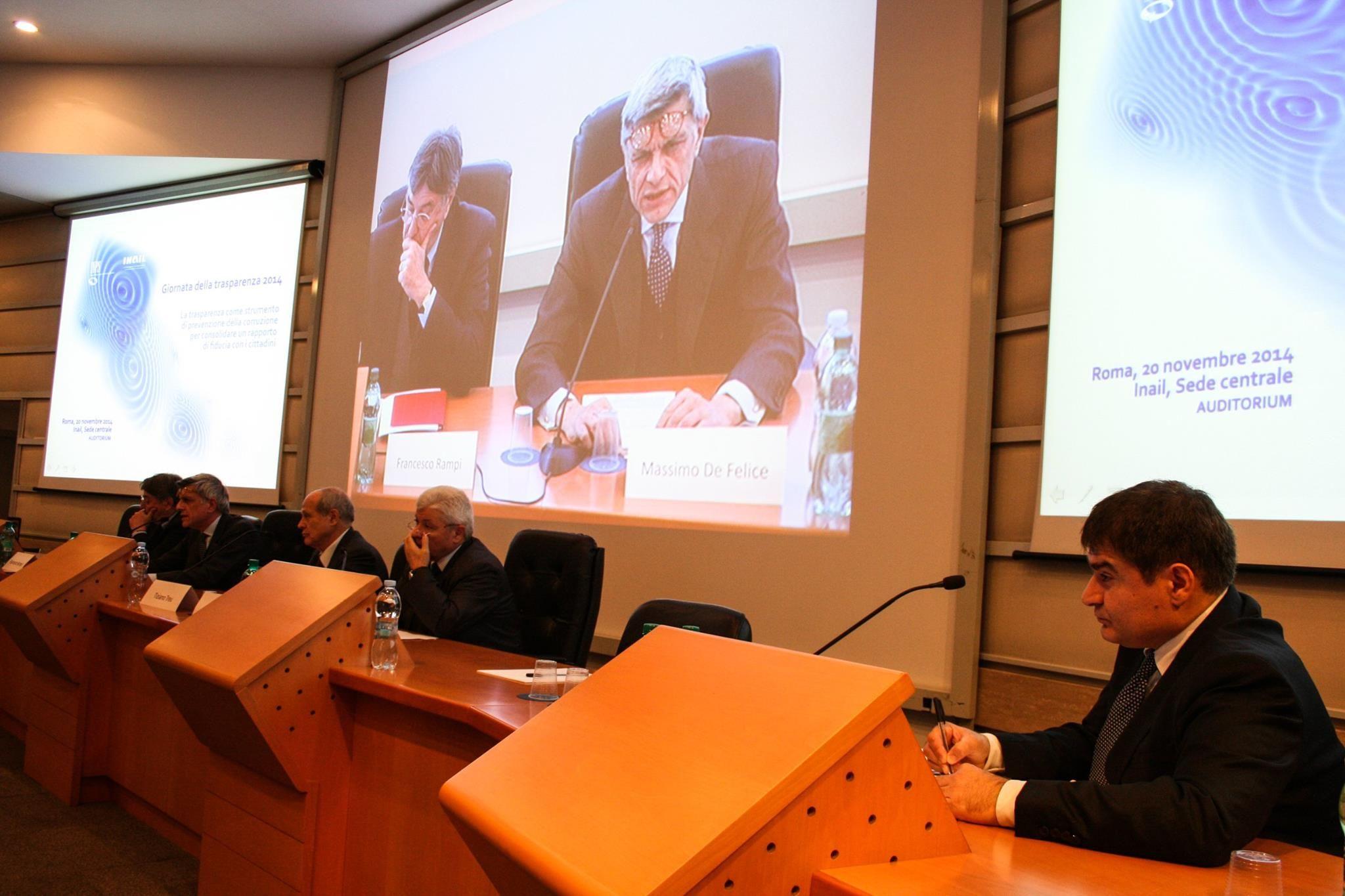 Quarta Giornata nazionale della trasparenza Flavio Marica responsabile anticorruzione Inps Giornata della trasparenza 2014