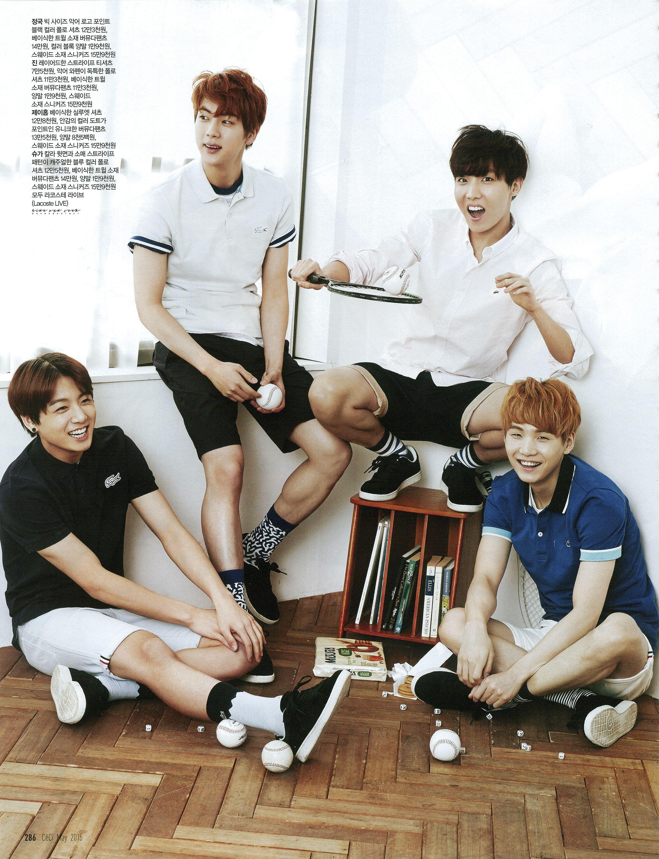 BTS/Bangtan Boys Jungkook Jin J-Hope Suga [SCAN] Céci May '15 | Cr: Hide and Seek