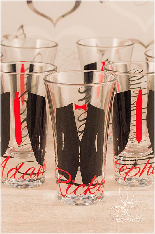 Weddingshotglassesmens VINYL DECALS Pinterest Shot - Vinyl decals for shot glasses