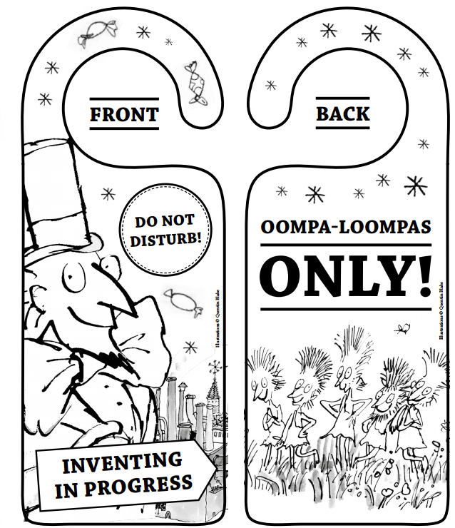 Oompa Loompa door hanger   charlie and the chocolate factory ...