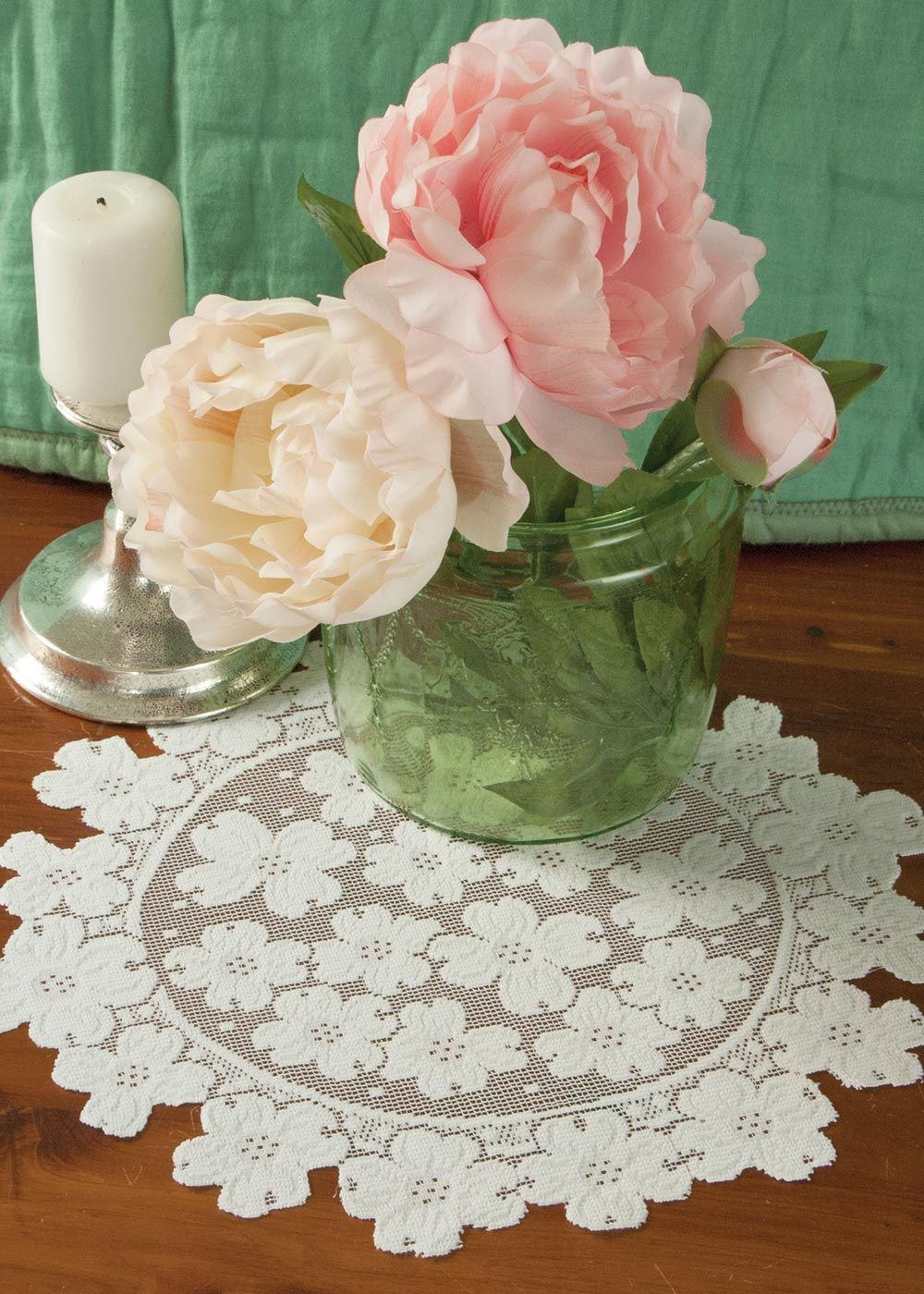 Dogwood Round Doily Heritage Lace To Make My Bowls With Wedding