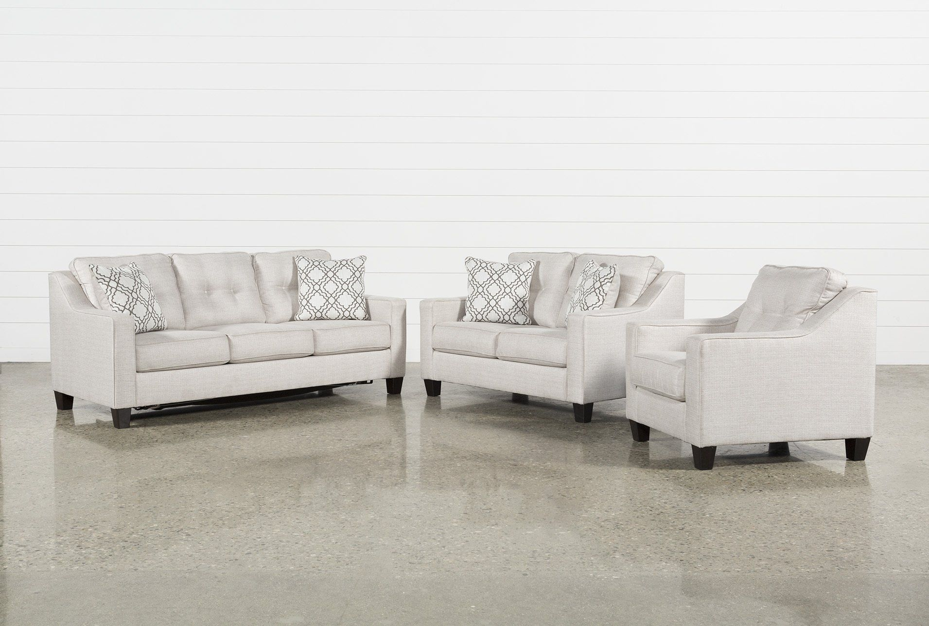 Linday Park 3 Piece Living Room Set With Queen Sleeper And Arm Chair ...