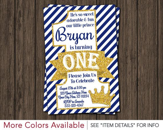 Prince birthday invitation first birthday invitations royal blue prince birthday invitation first birthday invitations royal blue 1st birthday invitation filmwisefo