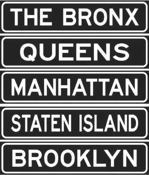New York City Boroughs There Are Only 5 Boroughs In N Y But