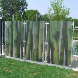 Glas br stung glas zaun glas railing glas windschutz for Terrassen sichtschutz glas