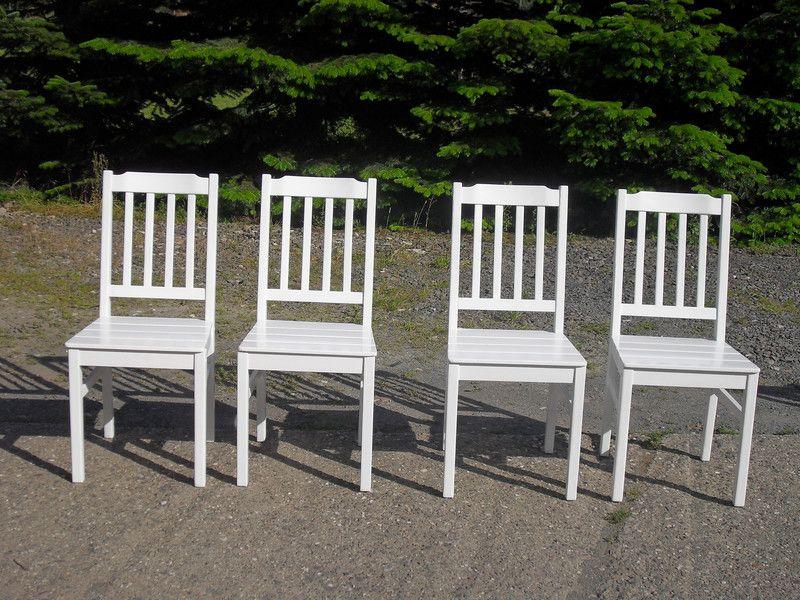 Stühle weiß holz landhaus  Stühle - Stuhl Weiß Shabby Holz Landhaus 4stück vorhanden - ein ...