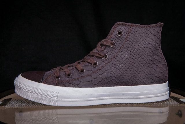 converse Limited Edition Converse Classic All Star Chuck Taylor Crocodile  Suede Skin High Tops Brown Winter Sneakers  1d86b91b2f1ae