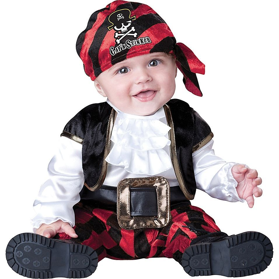 Cap'n Stinker Pirate Size 18M-2T Infant/toddler Halloween Costume