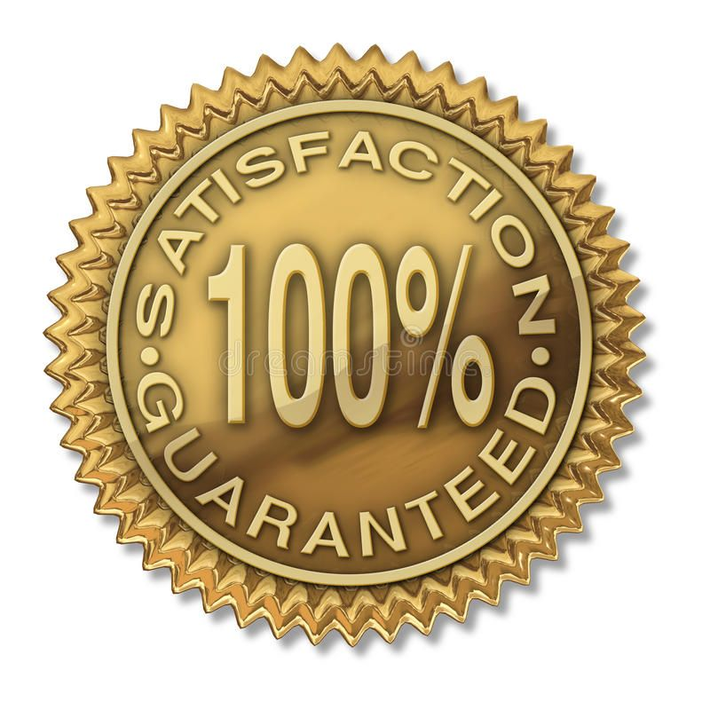Satisfaction Guaranteed 100 Gold Stamp Certification Isolated On White Sponsored Gold Satisfaction Guaranteed Isolated Stamp The 100 Satisfaction