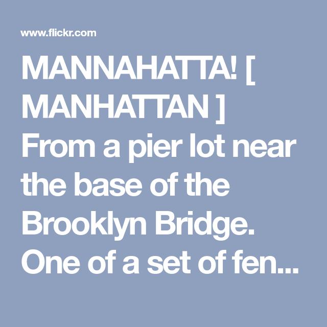 mannahatta poem