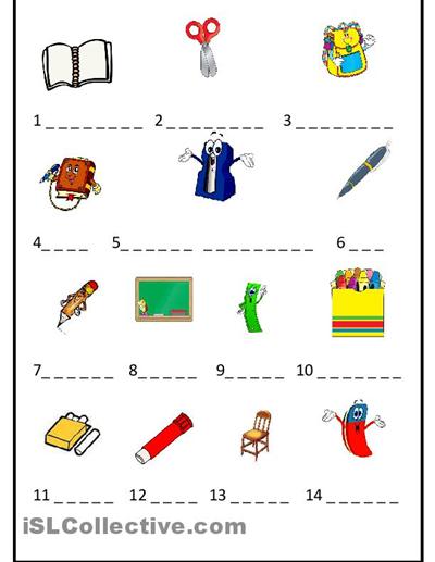 spanish worksheets for kindergarten objects worksheet free esl printable worksheets made. Black Bedroom Furniture Sets. Home Design Ideas