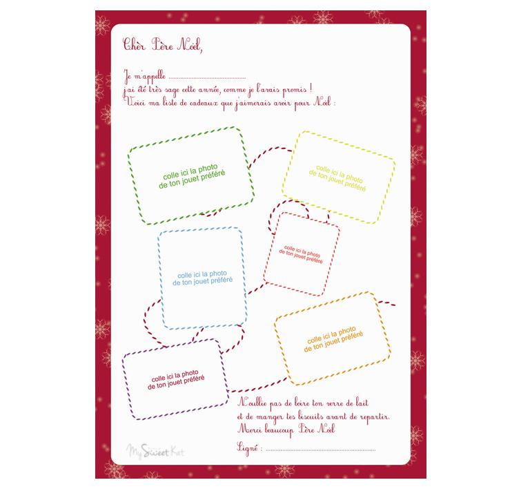 La Lettre Au Père Noël à Imprimer Gratuitement Sur Le Blog