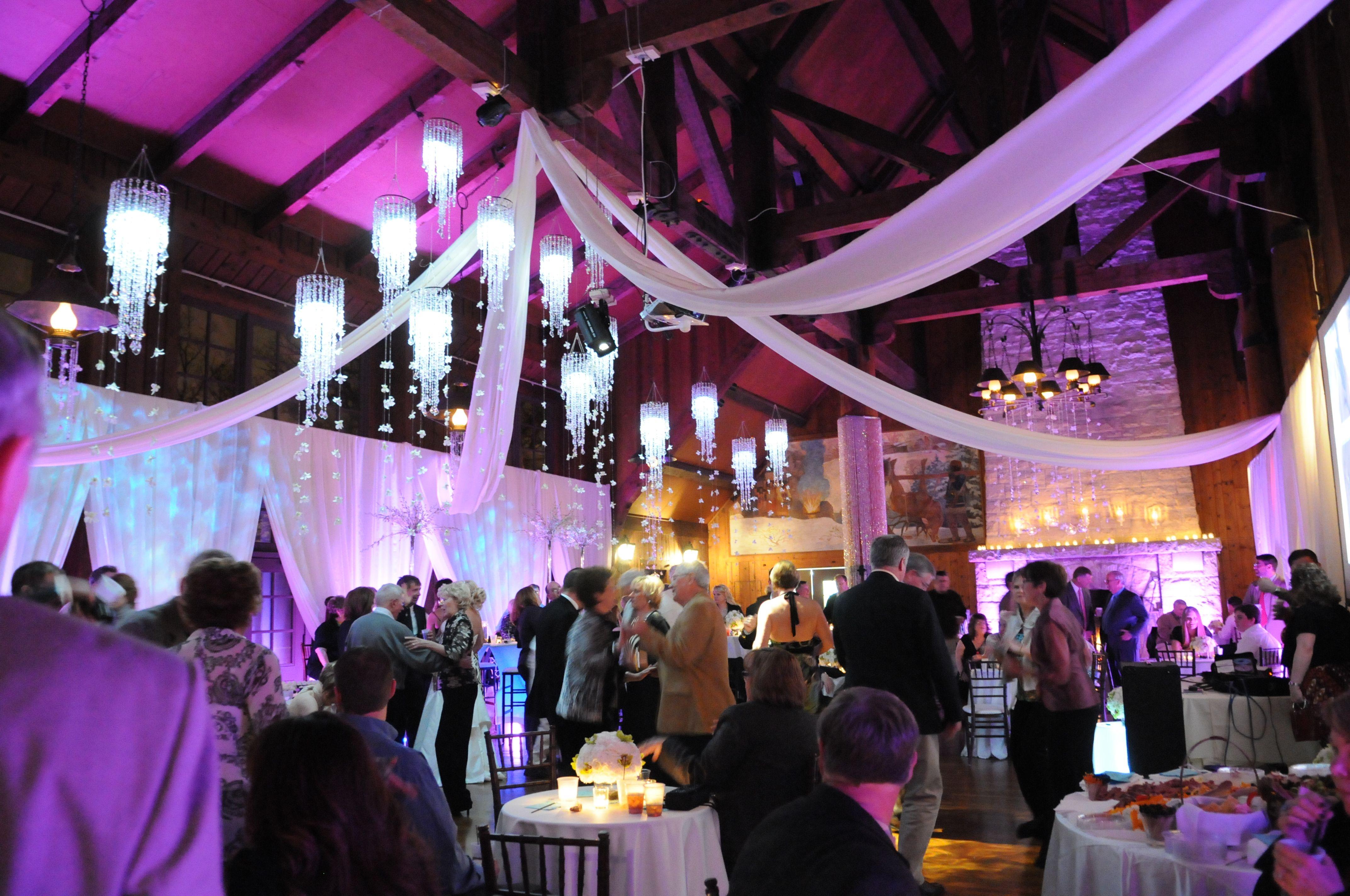 Wedding Decor Lighting Cocktail Hour Reception Watch Tower Lodge Rock Island