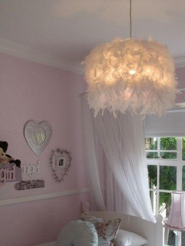 Pink feather lampshade feather lamp shade wrap a boa around the shade brilliant aloadofball Image collections