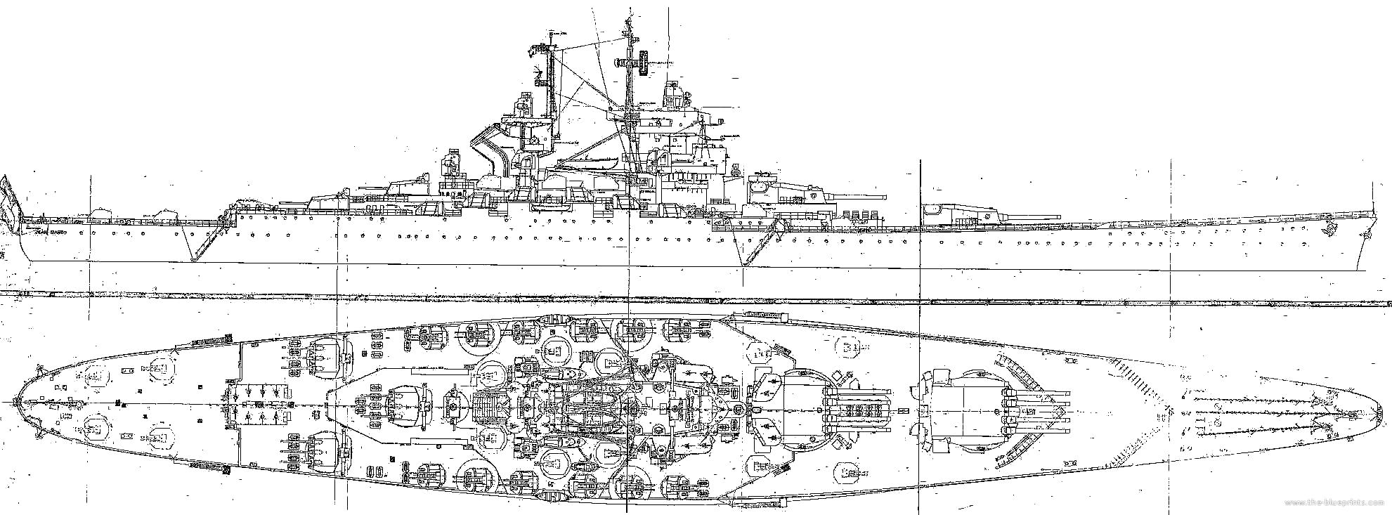 image result for iowa class battleship hull designs [ 1981 x 733 Pixel ]