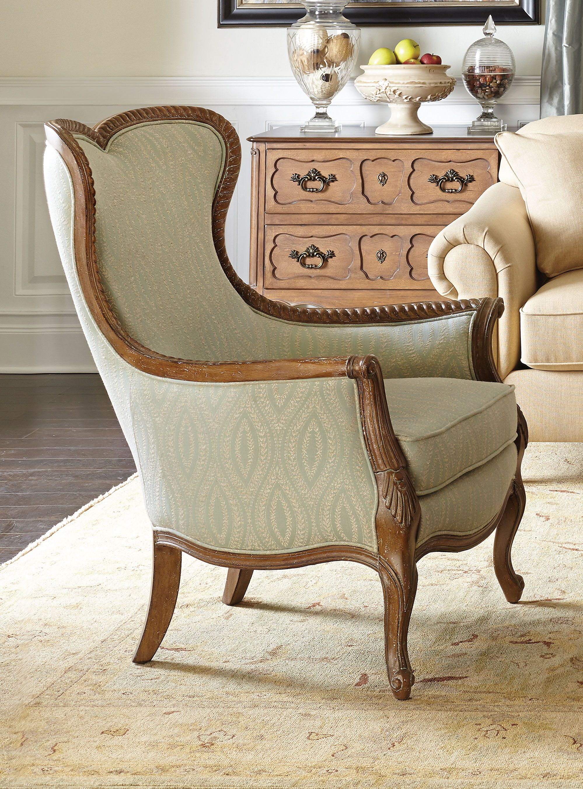 Contemporary Wingback Chairs Design For Your Furniture Ideas: Furniture Wingback  Chairs Design With Cream Rugs