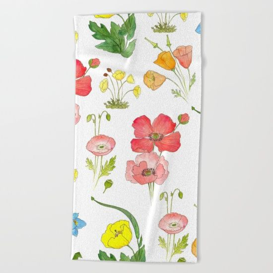 "Lay out like a pro with this super comfy, oversized and unique artist-designed Beach Towel. The soft polyester-microfiber front and cotton terry back are perfect for, well, drying your front and back. This design is also available as a bath and hand towel. Machine washable.  Towel Dimensions: <br>Hand Towel 30""x15"", Bath Towel 64""x32"", Beach Towel 74""x37"""