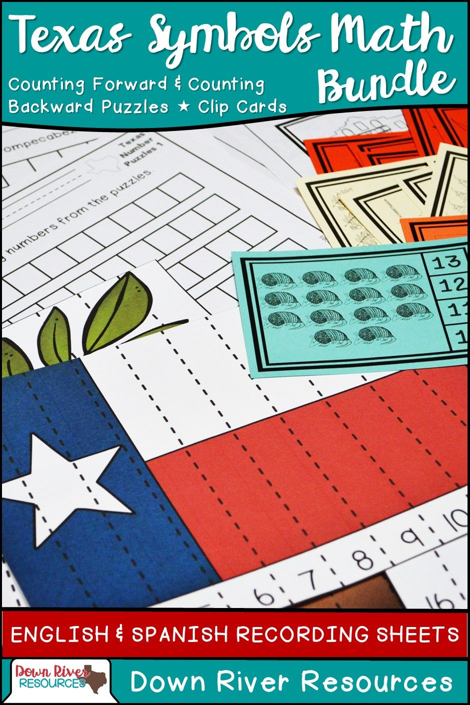 Texas Our Texas Math Centers: Kindergarten Math TEKS Bundle (English ...