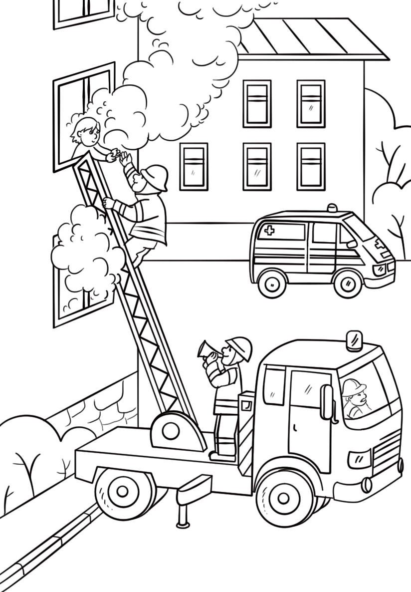 Fire Coloring Pages in 2020 Coloring pages for kids