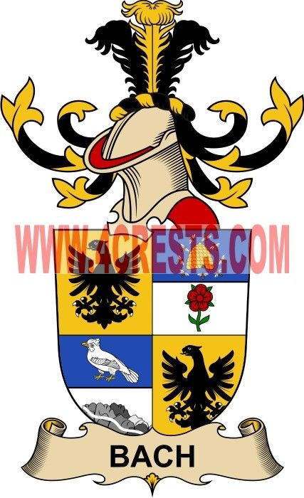 Bach Coat Of Arms Family Crest By Name Symbol Heraldry Code Of