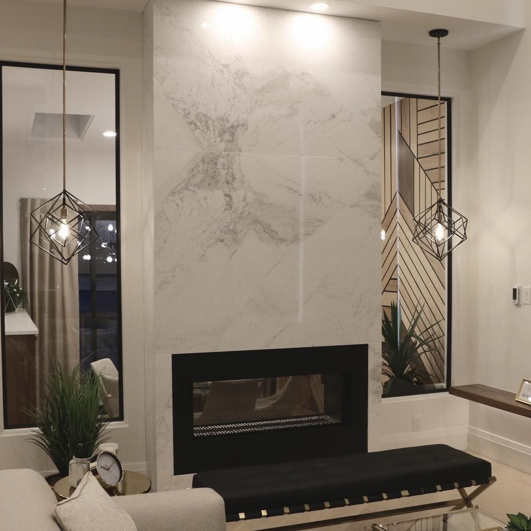 Book Matched Volakas Marble Slab Fireplace With Prima Stone Ma