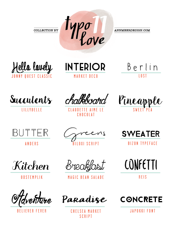 Lovely Fonts #11 (ann.meer)   Managing the Home ... - photo#31