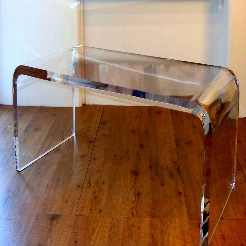 Clear Acrylic Coffee Table Amazon Appealing Waterfall Glass