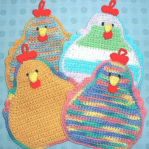 JudyK's More Chickens hot pad**Too Cute!**