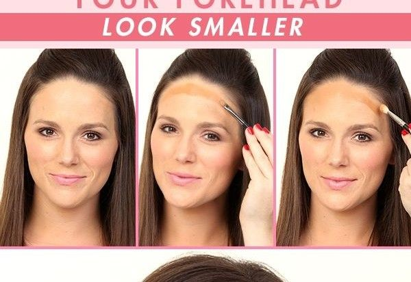 How To Make Your Forehead Look Smaller Makeup Tips Girls Magazine Small Forehead